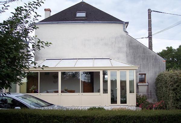 GST Rénovation - Ravalement façade Maison avec véranda 45 avant