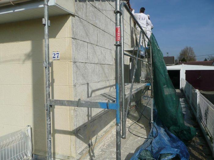 GST Rénovation - Ravalement décoratif sur maison phénix 3
