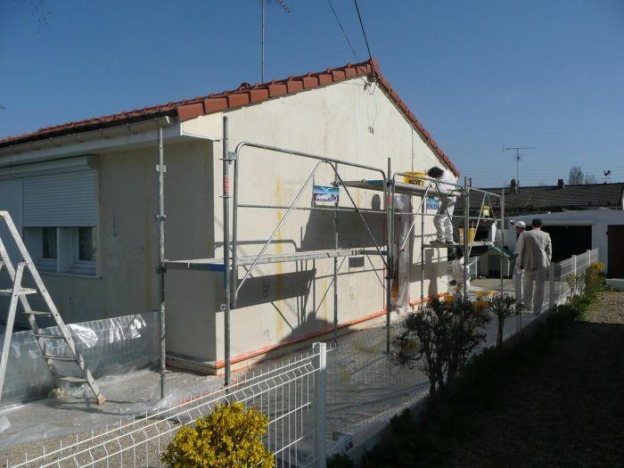 GST Rénovation - Ravalement décoratif sur maison phénix 6