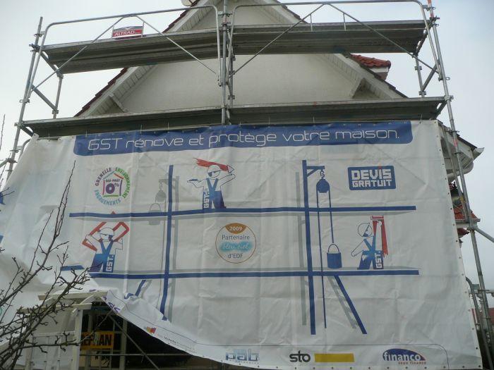 GST Rénovation - Mise en place des protection pour la rénovation des dessous de toit 2
