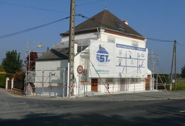 GST Rénovation - Ravalement façade Maison 45 après