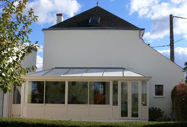 GST Rénovation - Ravalement façade Maison avec véranda 45 après