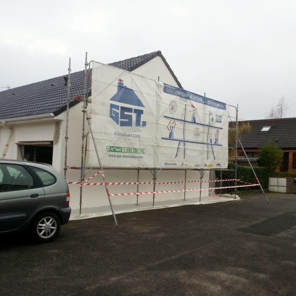 GST Rénovation - Mise en place de protection avant ravalement