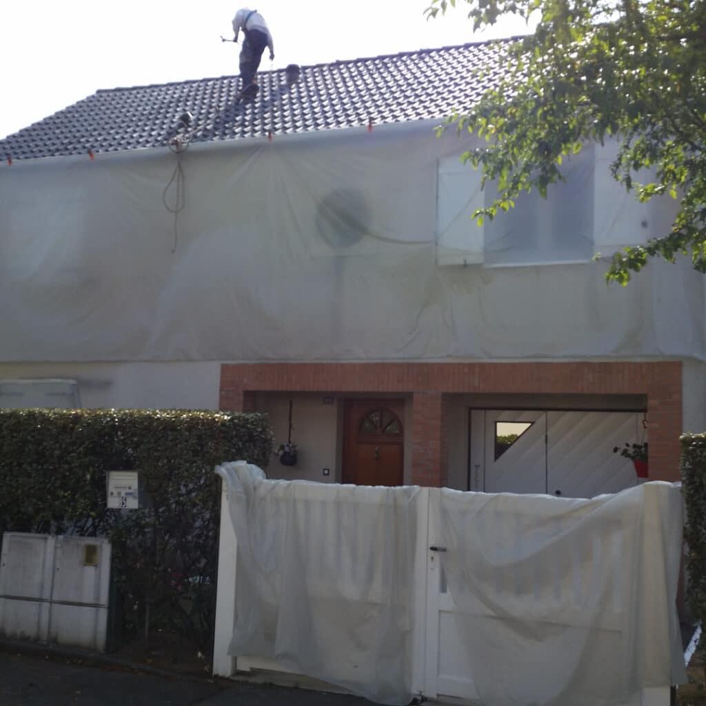 GST Rénovation - Mise en place de protection pour la rénovation de toiture