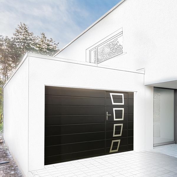 GST Rénovation - Porte de garage ALU noir