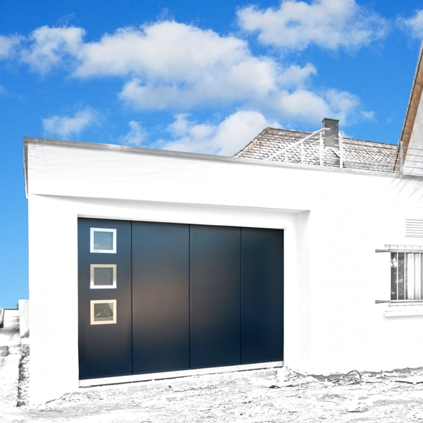 GST Rénovation - Porte de garage ALU sectionnelle avec vitre