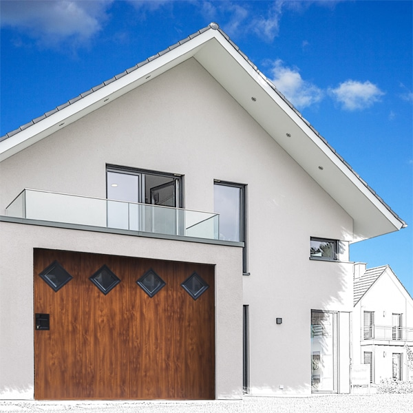 GST Rénovation - Porte de garage ALU style boisé