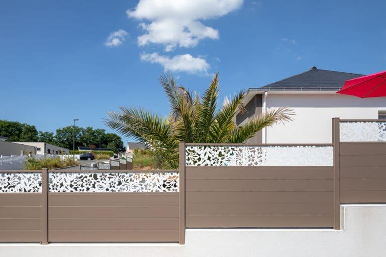 GST Rénovation - Clôture ALU brun Lizenn