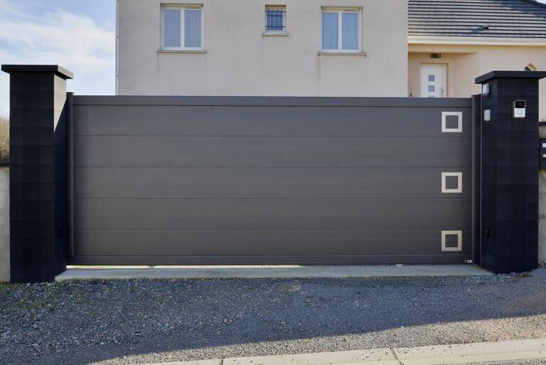 GST Rénovation - Portail design ALU coulissant