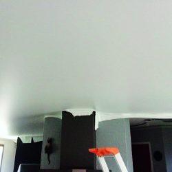 GST Rénovation - Plafond tendu cheminée